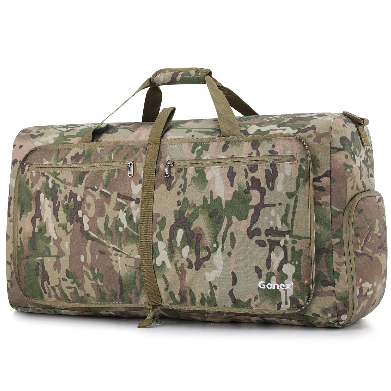 Gonex Camp Duffle Bag, Packable Lightweight Travel Duffel Water Resistant, 60L(Multicam)