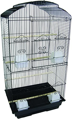 YML 3 8-Inch Bar Spacing Tall Shell Top Bird Cage, 18-Inch by 14-Inch, White