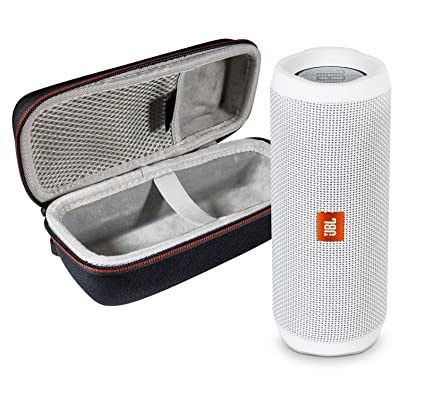 32facf2f11107 Amazon.com  JBL Flip 4 Portable Bluetooth Wireless Speaker Bundle with  Protective Travel Case - White  Home Audio   Theater