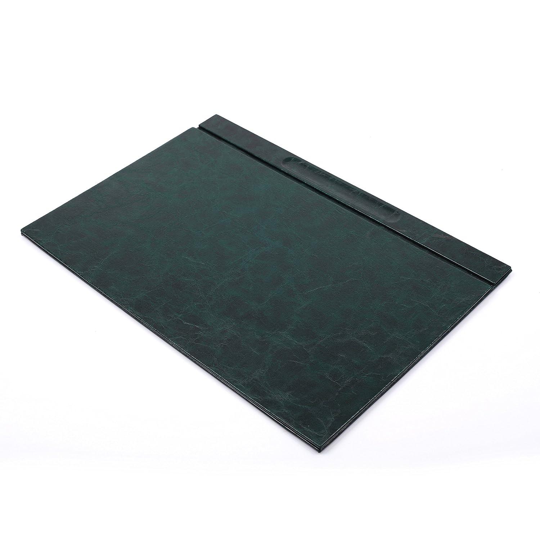 BOWA Ufficio Scrivania sottomano in pelle, taglia XL 49cm x 34cm verde Getgift