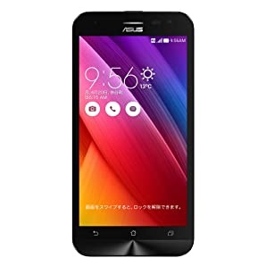 エイスース SIMフリースマートフォン ZenFone 2 Laser(Qualcomm Snapdragon 410/メモリ 2GB)16GB ブラック ZE500KL-BK16