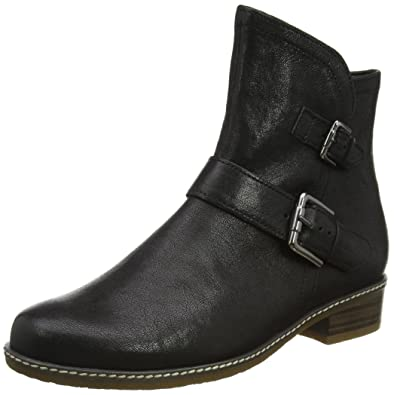 989fbed4e Amazon.com | Gabor Women's Menorca Modern High Cut Biker Boots 4 F (W) UK/  6 C/D (W) US Black | Ankle & Bootie