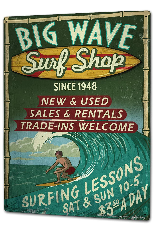 Plaque /émaill/ée Posters Enseignes en m/étal Panneaux Plaques XXL Atelier Bureau Magasin de surf