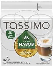 Tassimo Nabob Latte Single Serve T-Discs, 8 Lattes