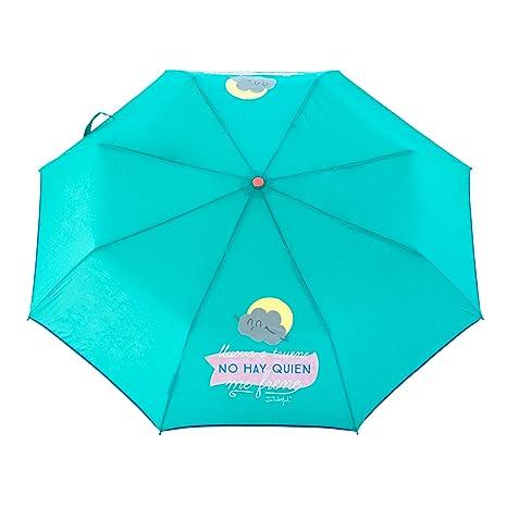 """Mr. Wonderful Paraguas Mediano, Diseño""""Llueva o Truene No Hay Quien."""""""