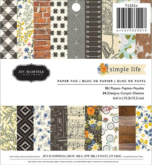 American Crafts 374925/Weihnachten Lodge 30,5/x 30,5/cm 24/Tabelle Papier Pad Weihnachten Lodge
