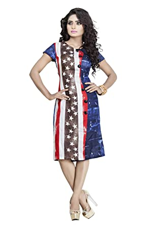 Italian Flag Knee Length Dresses