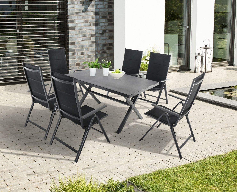 Gartengarnitur Essgrupppe, Esstisch plus Stühle, Gartenmöbel – Set ...