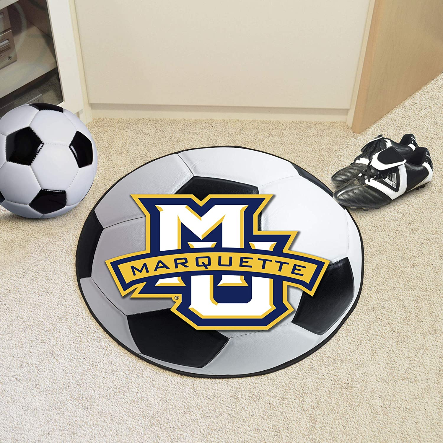 FANMATS NCAA Marquette University Golden Eagles Nylon Face Basketball Rug