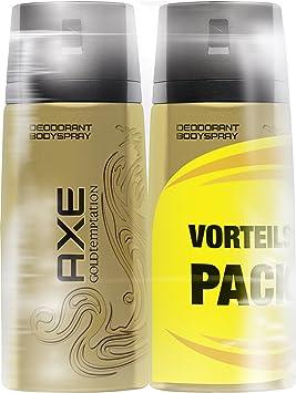 Axe – Desodorante spray Gold Temptation, sin aluminio, pack doble ...