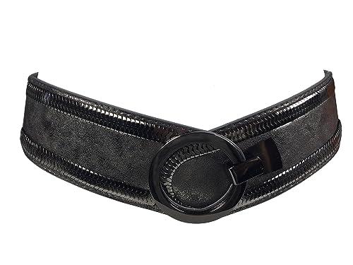 Markenlos - Cinturón - para mujer gris Talla única