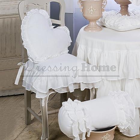 Cuscini Per Sedie Shabby.Cuscino Per Sedia Shabby Chic Fru Fru Collection Blanc Mariclo