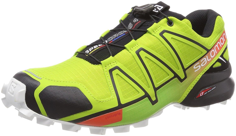 Salomon Herren Speedcross 4 Traillaufschuhe  40 2/3 EU Mehrfarbig (Lime Green/Black/Scarlet Ibis)