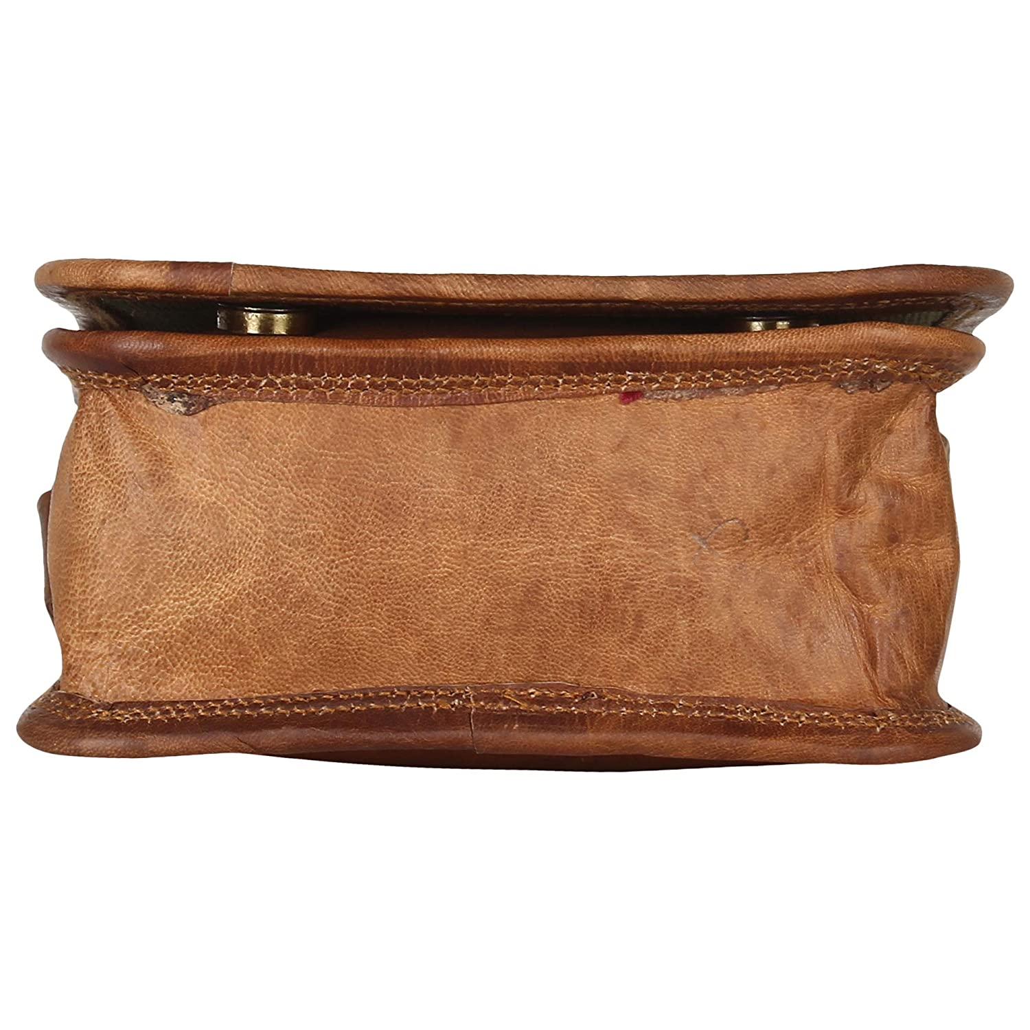 Brown CPLEATHER Premium Quality Leather Messenger Bag for Men and Women