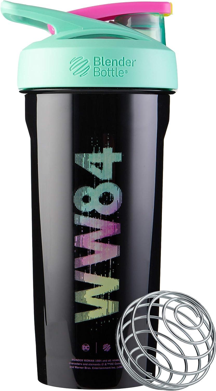 BlenderBottle Wonder Woman Strada Tritan Shaker Bottle, 28-Ounce, WW84 Logo