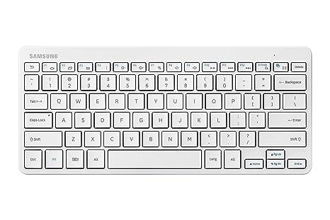 Samsung Tab Bluetooth keyboard White - Teclado (Inalámbrico, Bluetooth, Color blanco, Batería