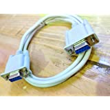 New 9 Pin Serial DB9 (RS232) Female to Female Cable 1.5 Meters (5 Feet)