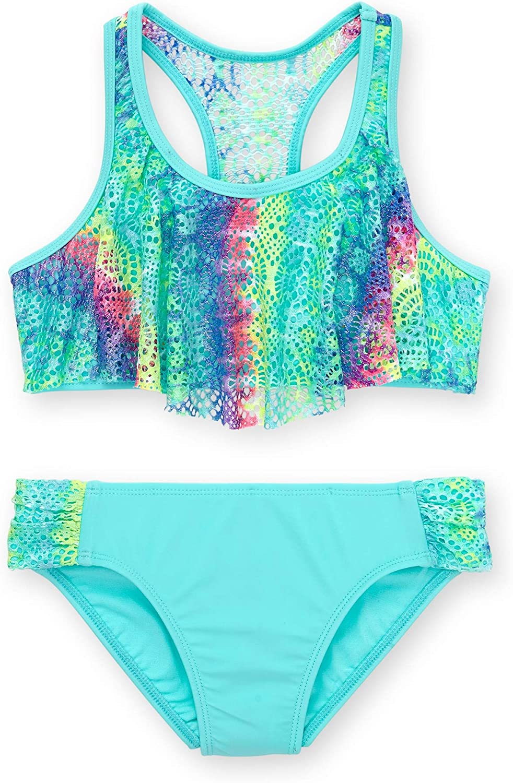 4-5 Small Wonder Nation Girls 2 Piece Bikini Swimsuit Size x