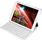 Inateck iPad Air 2,iPad Pro 9.7 Inch Keyboard Cover with Intelligent Switch and Multi-Angle Stand 【Not compatible with 2017 New iPad 9.7 inch/iPad Air1】,White