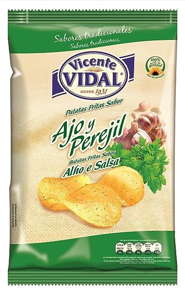 VICENTE VIDAL patatas fritas ajo y perejil bolsa 135GR