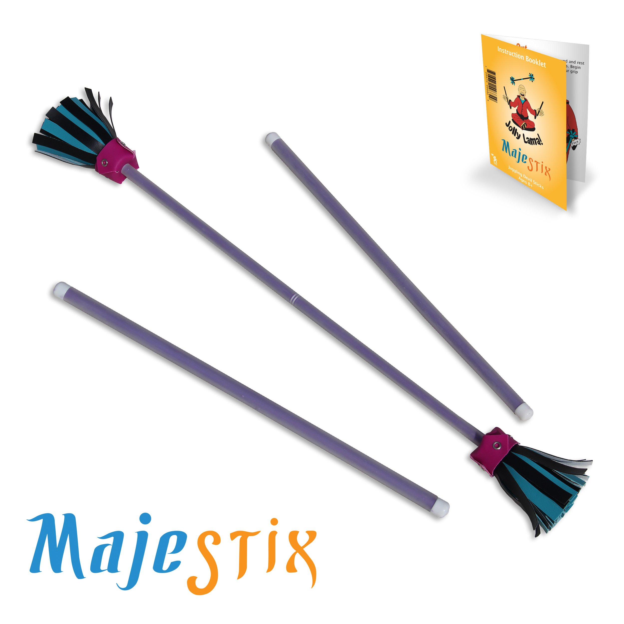 Jolly Lama! Purple Majestix Juggling Sticks Devil Sticks
