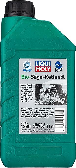Liqui Moly 1280 Aceite para Cadenas de Motosierras Bio, 1 L: Amazon.es: Coche y moto