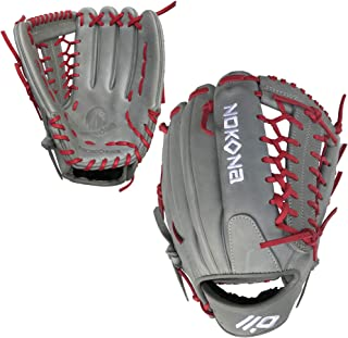 product image for Nokona AmericanKip Gray Mod-Trap 12.75 Inch A-1275M-GR RD Baseball Glove (Red Lacing)