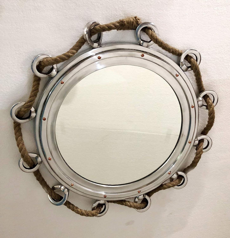 Amazon.com: 10 inch Porthole Aluminium Finish Port Mirror Wall