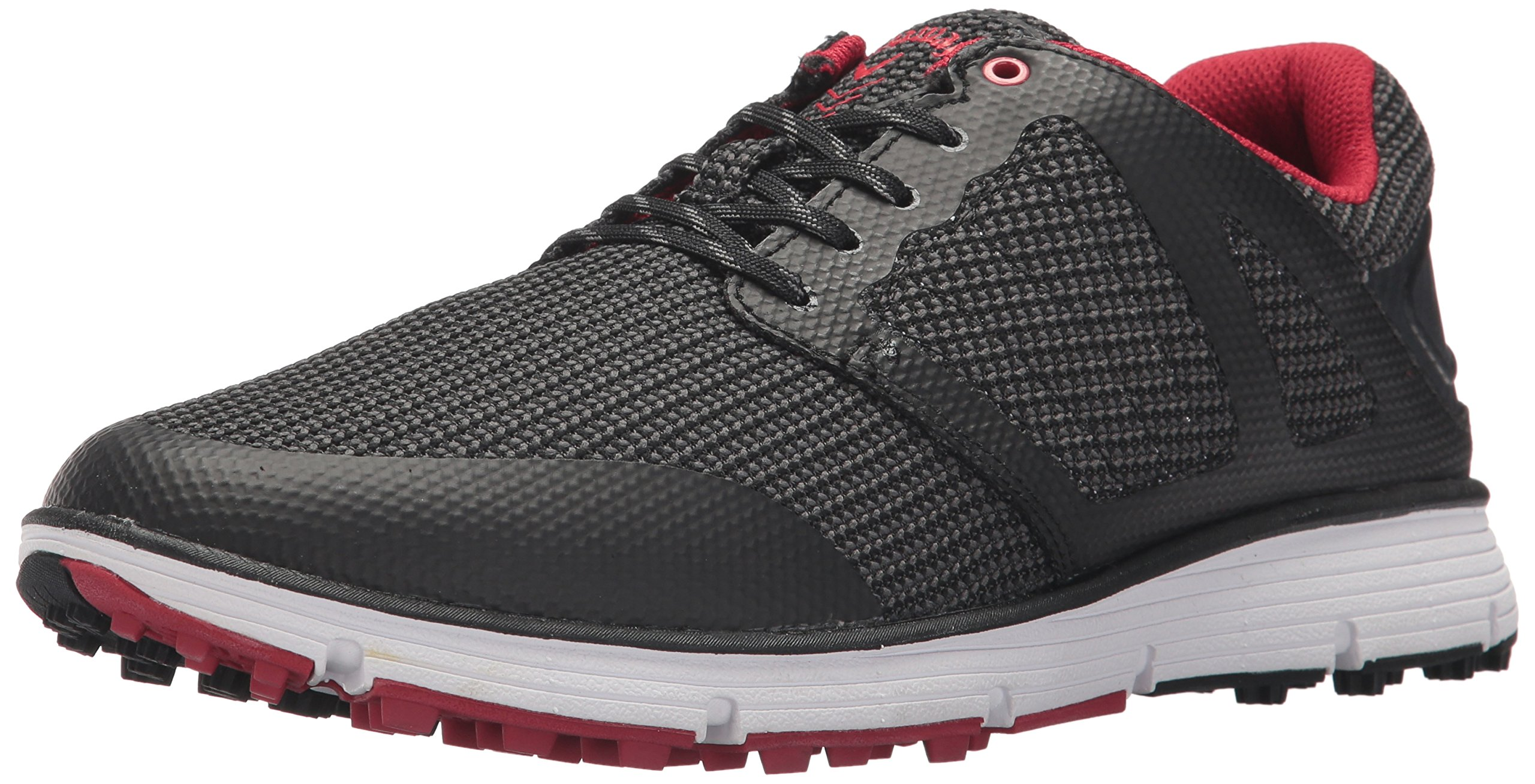 Callaway Men's Balboa Vent 2.0 Golf Shoe, Black/White/red, 10.5 M US by Callaway