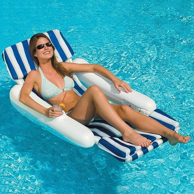 Amazon.com: Esterilla acolchada flotante para piscina ...