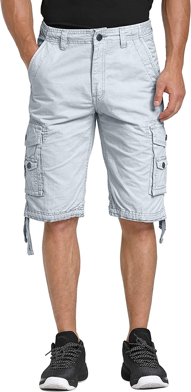 WenVen Pantalones de Vestir de Sarga de Algodón para Hombres