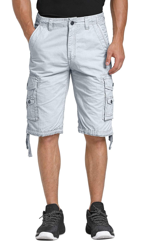 TALLA UK 30 (ES 38). WenVen Pantalones de Vestir de Sarga de Algodón para Hombres