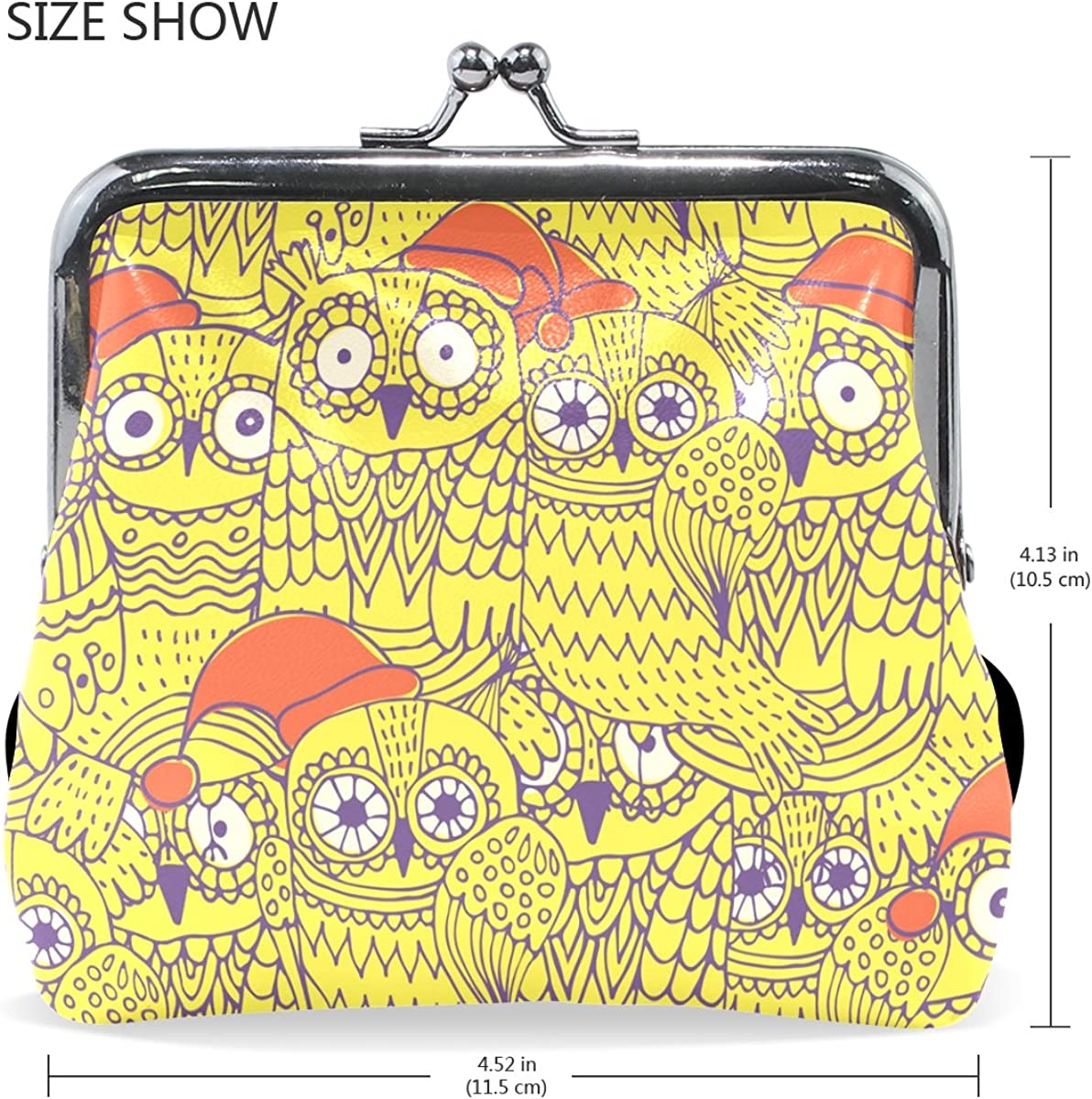 Sunlome Owls Coin Purse Change Cash Bag Small Purse Wallets for Women Girl