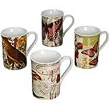 Konitz Assorted Botanical Mugs, Set of 4