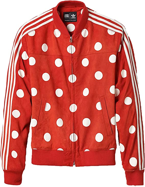 Adidas x Pharrell Men's Big Polka Dot Leather Track Top