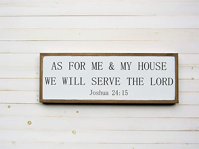 Amazoncom As For Me And My House We Will Serve The Lord Sign
