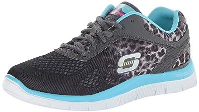 Skechers Flex Appeal Serengeti, Damen Sneakers, Grau (CCLB), 35 EU