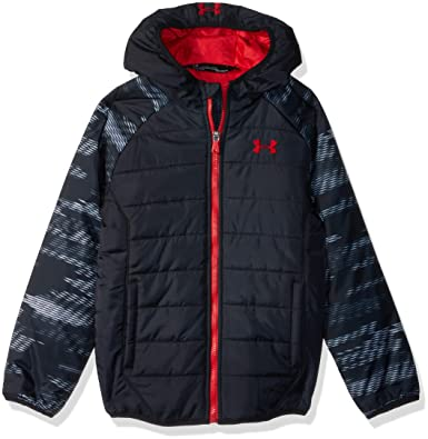 5e051bb39 Amazon.com  Under Armour Boys  Print Tuckerman Puffer Jacket  Clothing