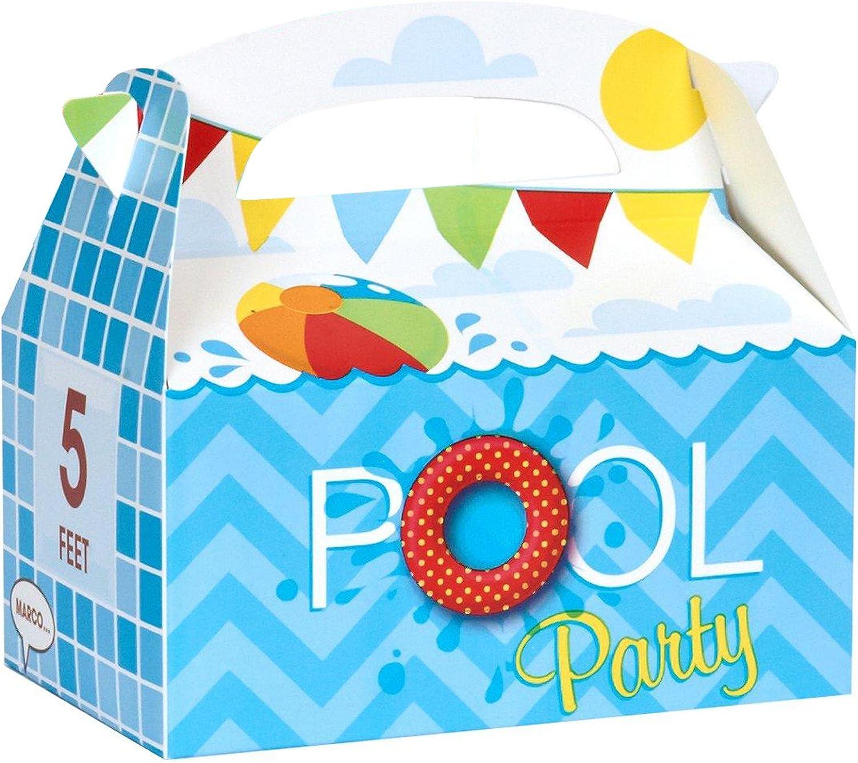 Girl Favor Boxes Pool Party Favor Boxes Beach Party Totes Qty 10 Beach Favor Pool Party Favors Favor Boxes Beach Party Favor Boxes