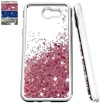 Amazon.com: Carcasa para Samsung Galaxy J3 Emerge Glitter ...