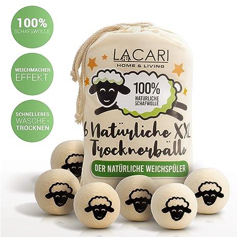 Lacari ® 9 XXL - Bolas de Secado para Secadora - El suavizante Natural de 100