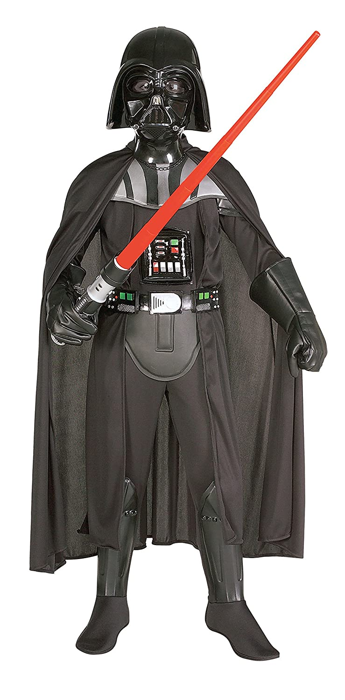 Darth Vader Deluxe Child withマスクBoys Star Warsコスチューム882014 43561  B079RM24FJ