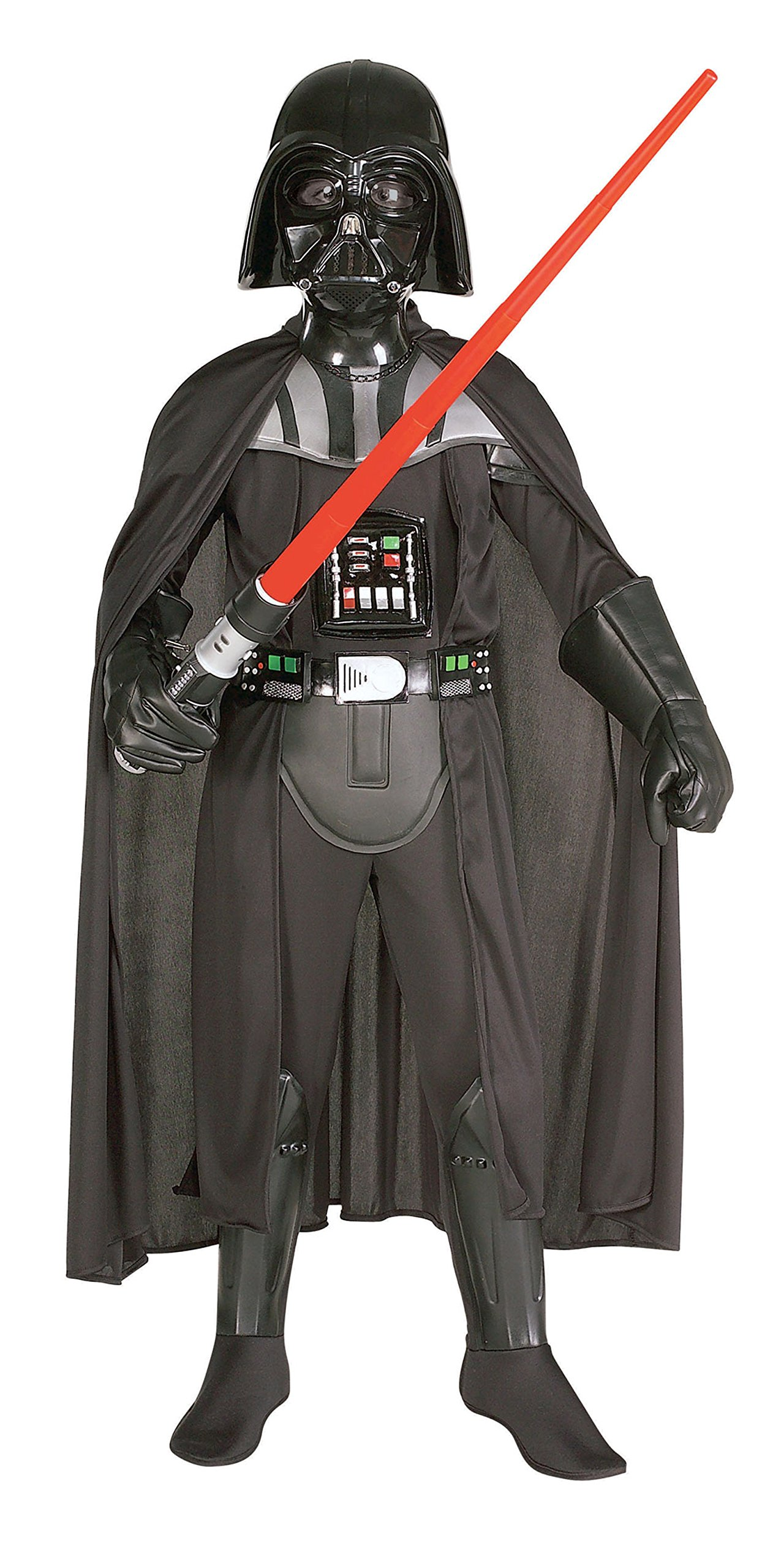 882014 (8-10) Darth Vader Deluxe Child with Mask Boys Star Wars Costume Black