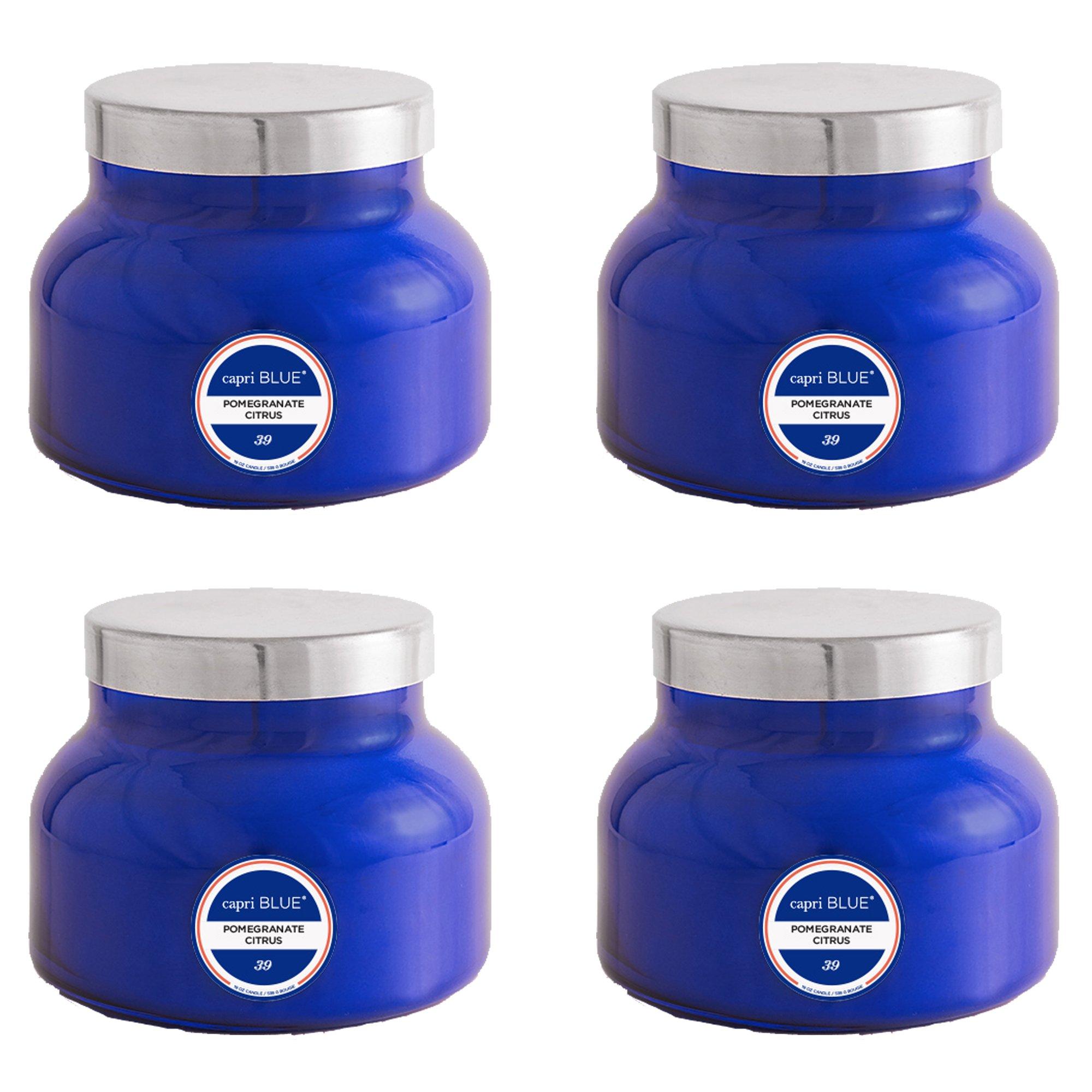 Capri Blue 19 oz Signature Pomegranate Citrus Jar Candle (4 pack), Pomegranate Citrus, One Size