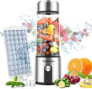 Portable Blender,PopBabies Personal Blender with USB Rechargeable, 5200 maH Powerful Longer Life Smoothie Blender