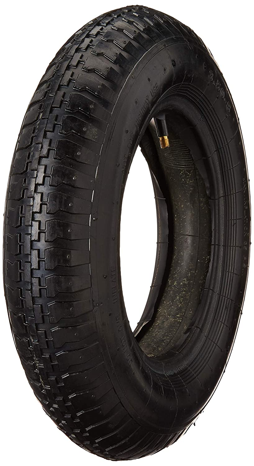 Potreba Tire and Inner Tube Set 3.50-8 for Inflatable Pneumatic Wheelbarrow Wheel 14,5 inch 8'' Rim