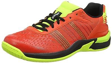 ce9b122d64208 Kempa Attack Contender Junior, Chaussures de Handball Mixte Enfant, Rouge  Tomate Noir