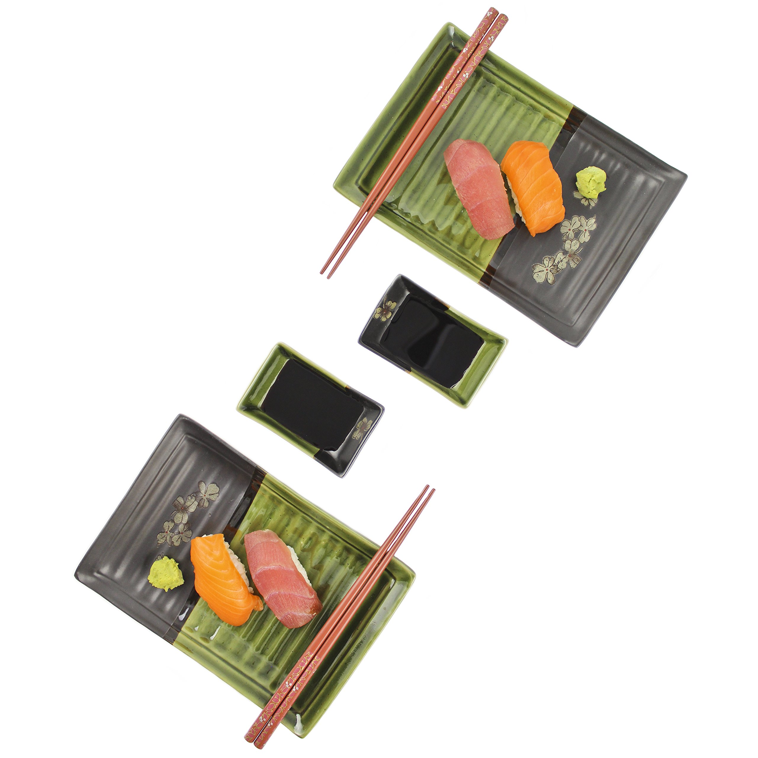 Zoie + Chloe Ceramic Sushi Gift Set For Two
