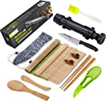 Sushi Making Kit, All In One Sushi Bazooka Maker with Bamboo