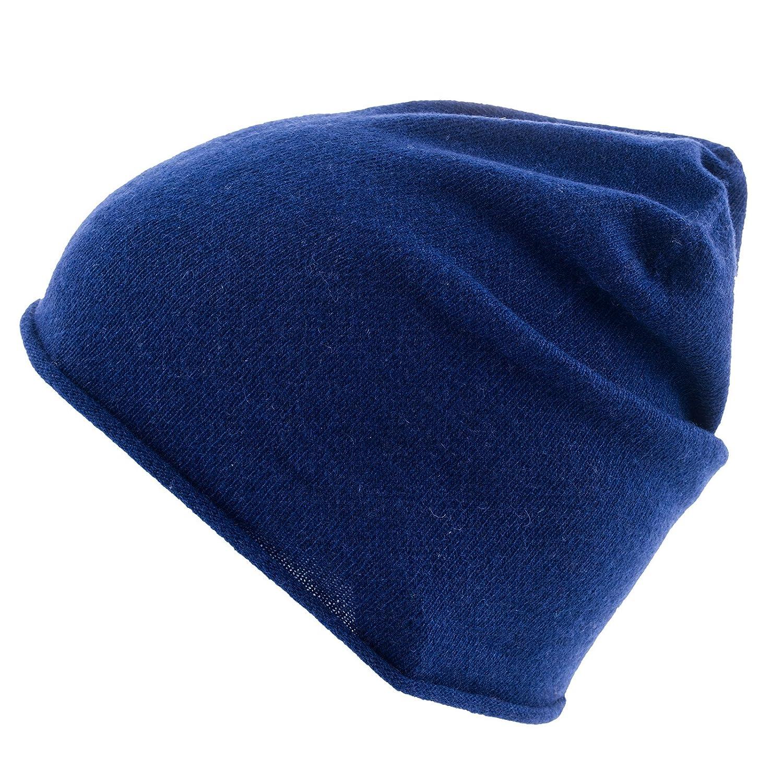 Really Nice Cashmere Curl Solid inverno berretto in maglia Unisex 100% Eco lana cashmere cappello, Unisex, blau, Taglia unica